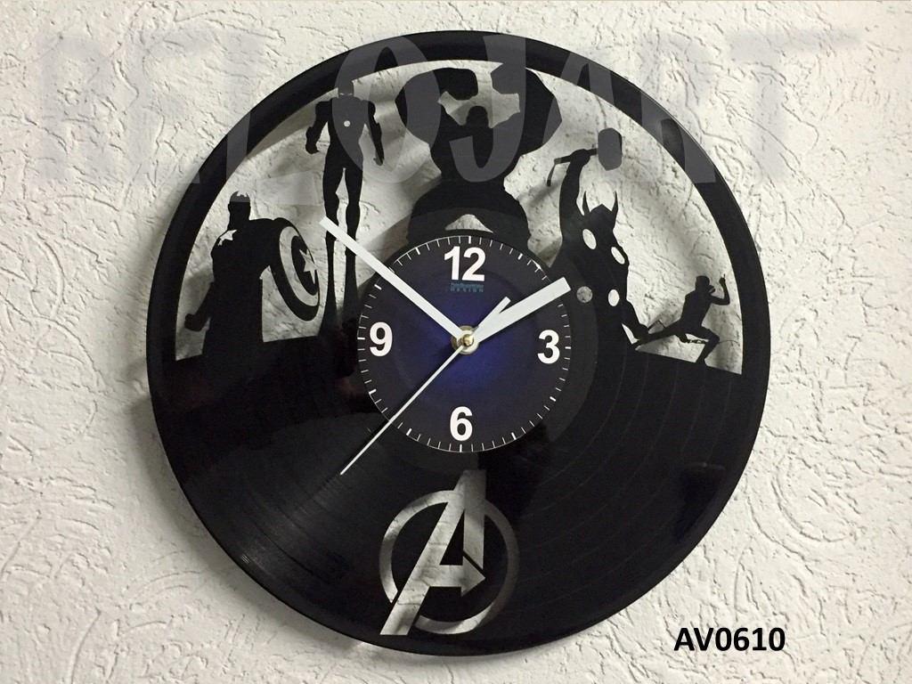 Original reloj de pared en disco de vinil the avengers - Reloj pared original ...