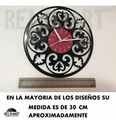 original reloj de pared en disco lp - violín musica