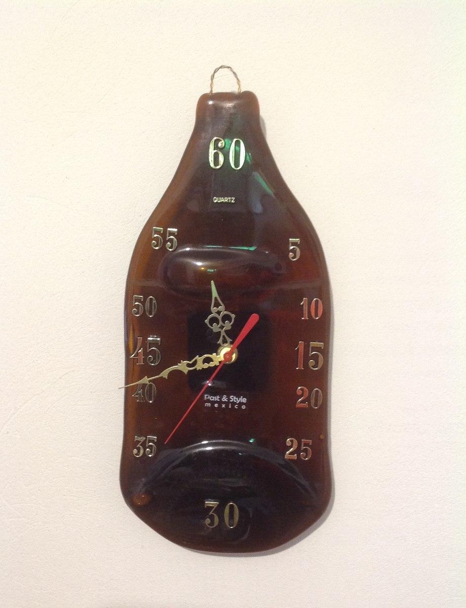 Original Reloj Pared Ps Botella2 Cerveza Caguama Cuarzo