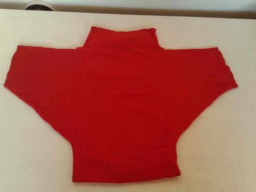 original remera roja algodon y lycra talle s