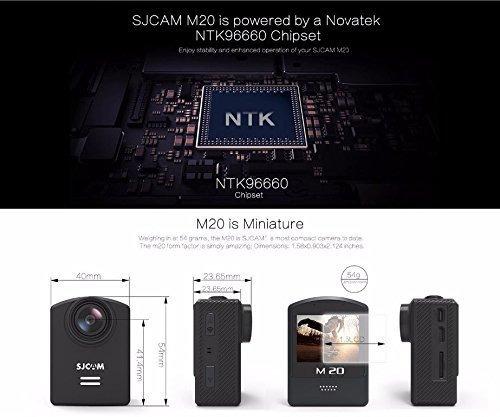 original sjcam m20 16mp sony imx206 sensor mini accion casco