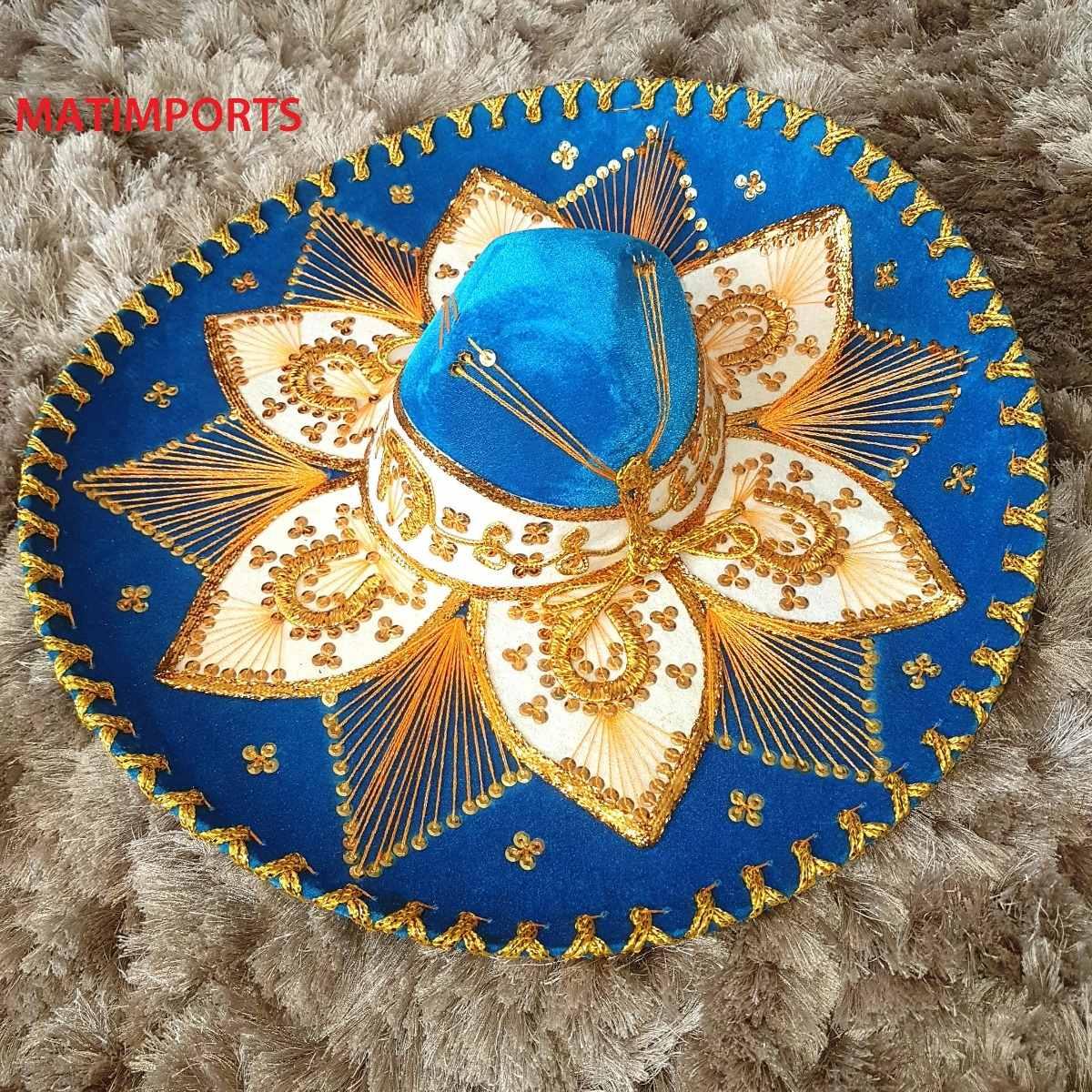 Original Sombreiro Mexicano Azul Calcinha a843e3fce2f
