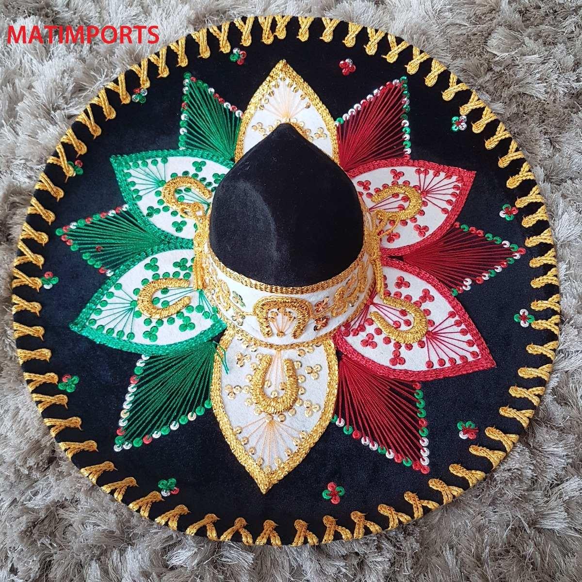 Original Sombreiro Mexicano Colorido df0266915c4