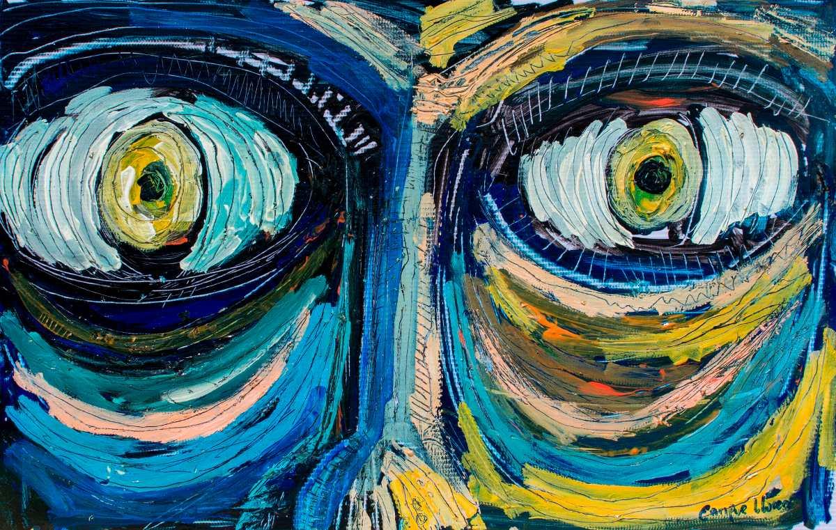Pintura Original Enrique Llorens Ojos Tecnica Mixta 3 500 00 En