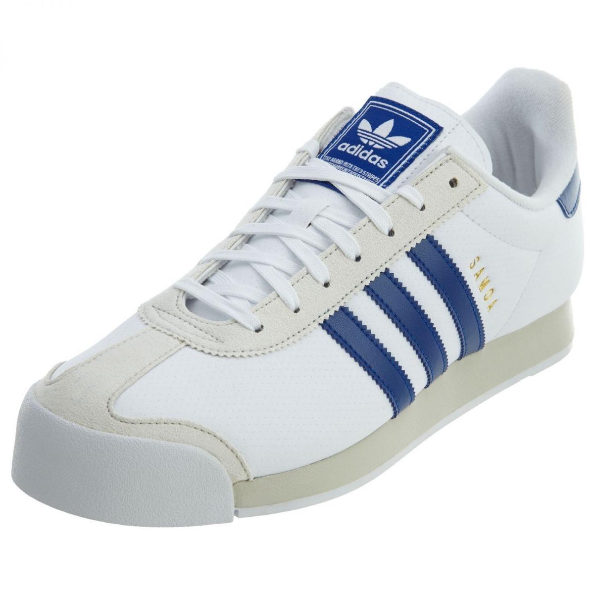 0a083d06d original tenis adidas samoa originals piel white blue retro. Cargando zoom.
