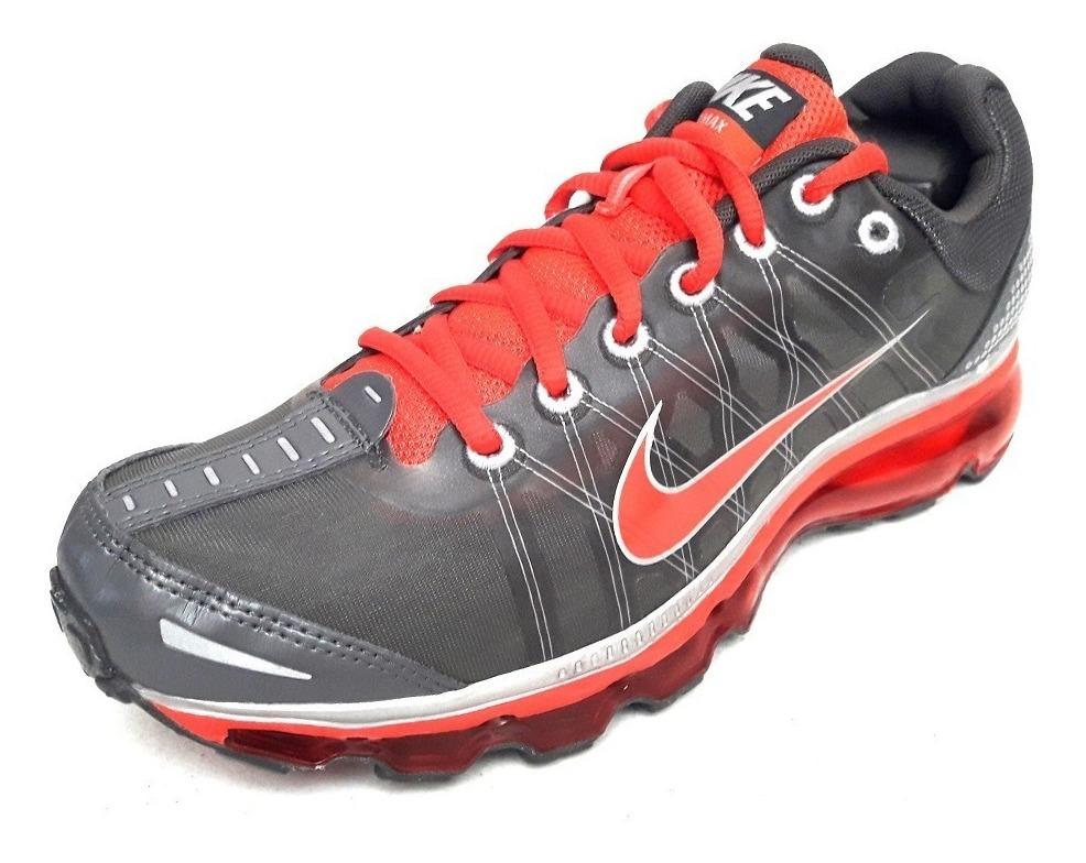 Original Tenis Nike Air Max 2009 Running Suela 360 Gris Rojo