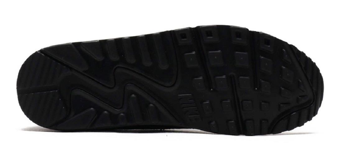 Original Tenis Nike Air Max 90 Premium Just Do It Negro Dña Tenisshop