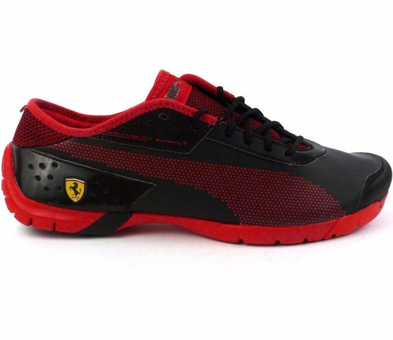 af3f29c847c8b Original Tenis Puma Future Cat Super Lt Ferrari Black   Red ...
