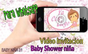 Original Video Invitacion Para Baby Shower Niña Economica