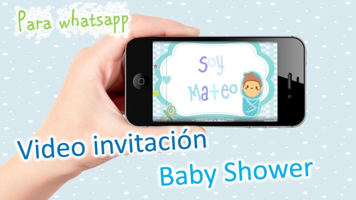 Original Video Invitacion Para Baby Shower Niño