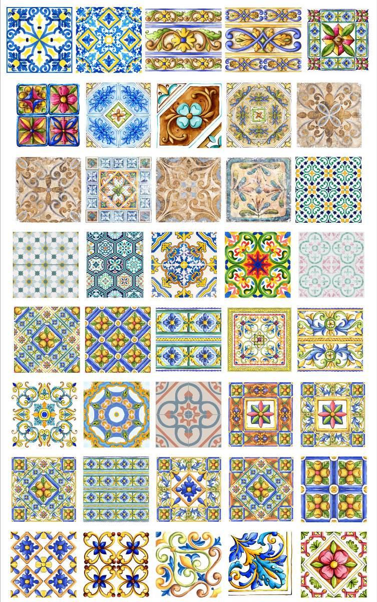 Originales Vectores Azulejos 01 Super Exclusivo 18000 En - Azulejos-originales