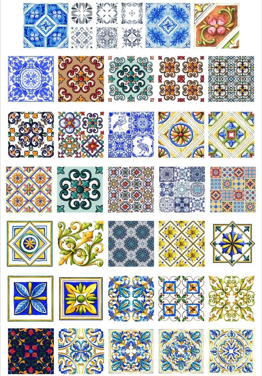 Originales Vectores Azulejos 03 Super Exclusivo 18000 En - Azulejos-originales