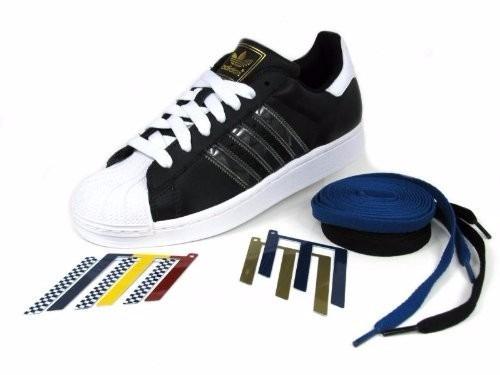 ea3a23f5a614a Originals Tenis adidas Superstar 2 Adicolor Negro Con Blanco ...
