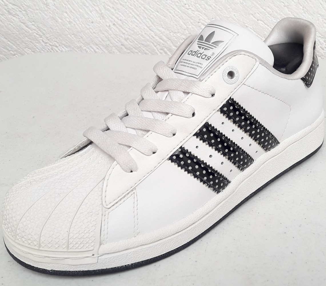 buy online ff2e8 7bc86 original´s tenis adidas superstar 2 junior blanco lineas pun. Cargando zoom.