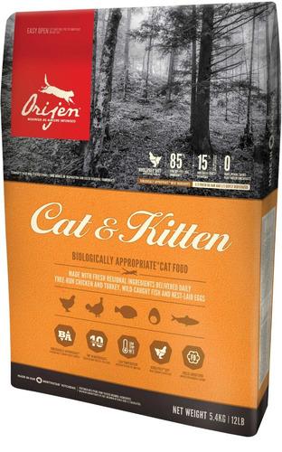 orijen cat kitten pollo pavo pescado gatos cachorros 5.45kg