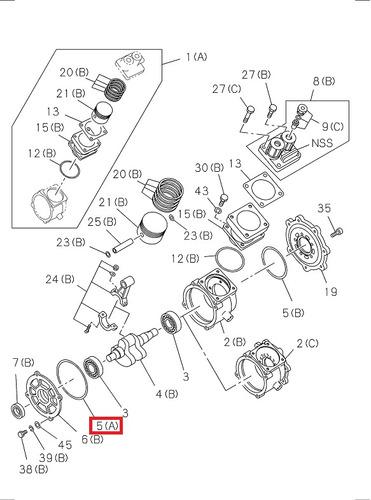 oring tapa trasera compresor aire de freno 6bd1/6bd1t encava