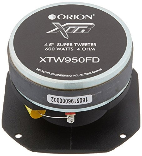orion xtw950fd 1.25  600w max xtr series car audio tweeter