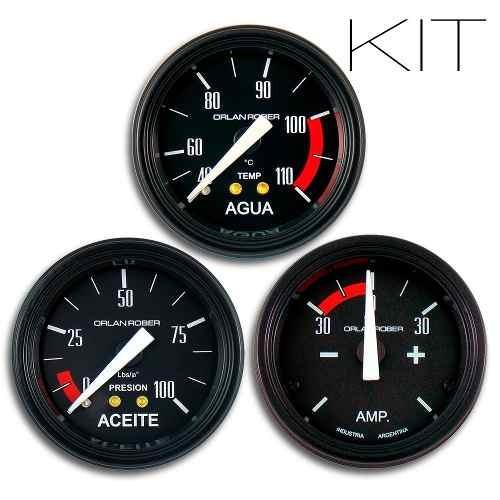 orlan rober kit reloj temperatura agua aceite y amperimetro