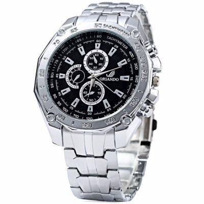 orlando 410 relógio quartz  masculina preto