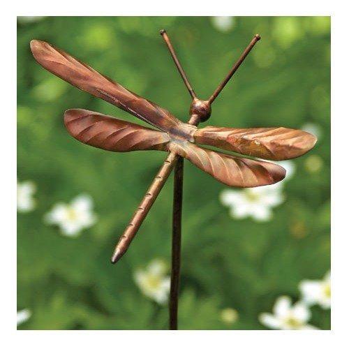 ornamento de cobre flameado antiguo de la libélula
