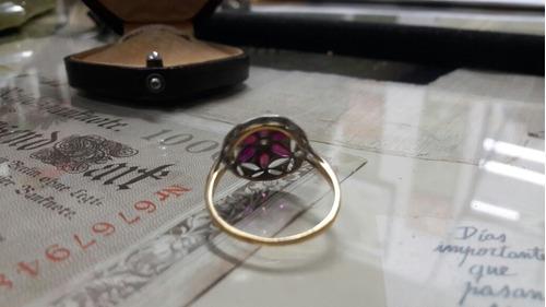 oro brillantes anillo