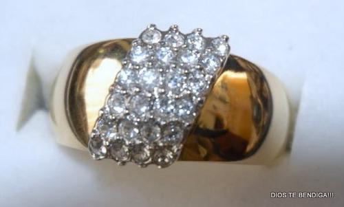 oro circones anillo