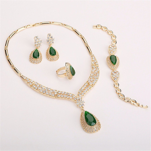 oro cristal cadena collar