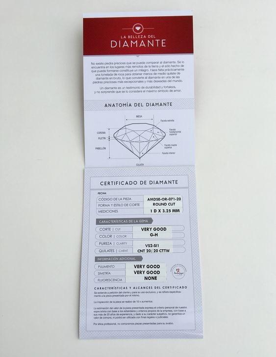 Anillo De Compromiso Oro Rosa Y Diamante Certificado Y Argol ...