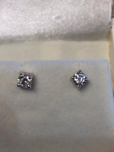 oro diamantes aretes
