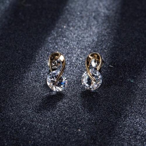 oro joyería aretes