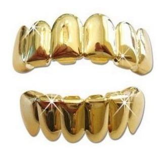oro plateado hip hop dientes grillz superior   inferior parr