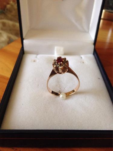 oro rubí anillo