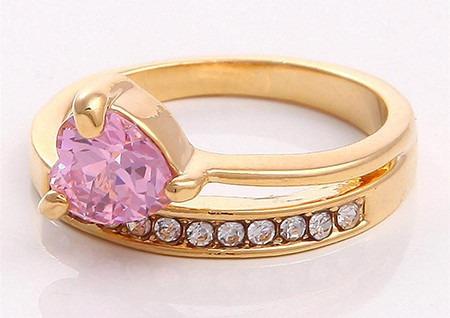 oro topacio anillo