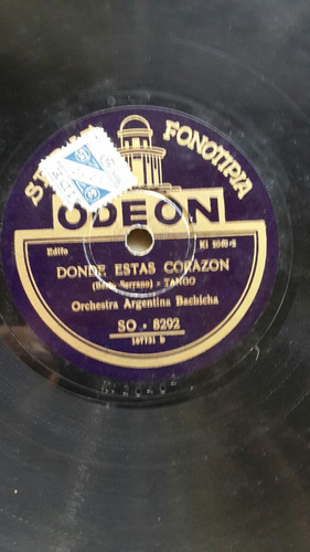 orquesta argentina bachicha disco original odeon