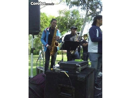 orquesta con musica instrumental, merengue, bachata etc.