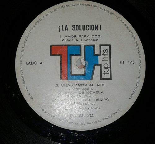 orquesta la solución/ una canita al aire/ salsa/ lp vinilo