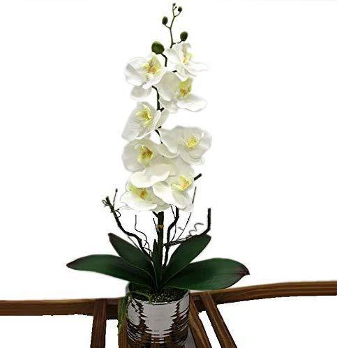 Orquídea Artificial Arreglos Florales Centro De Mesa Con Ja