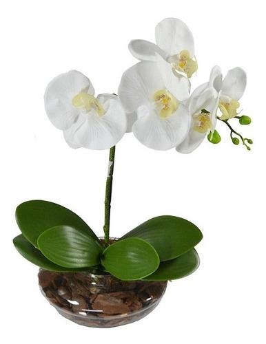 orquídea branca artificial arranjo permanente