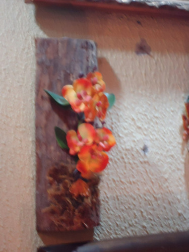 orquidea de parede no tronco coral artificial artesanato