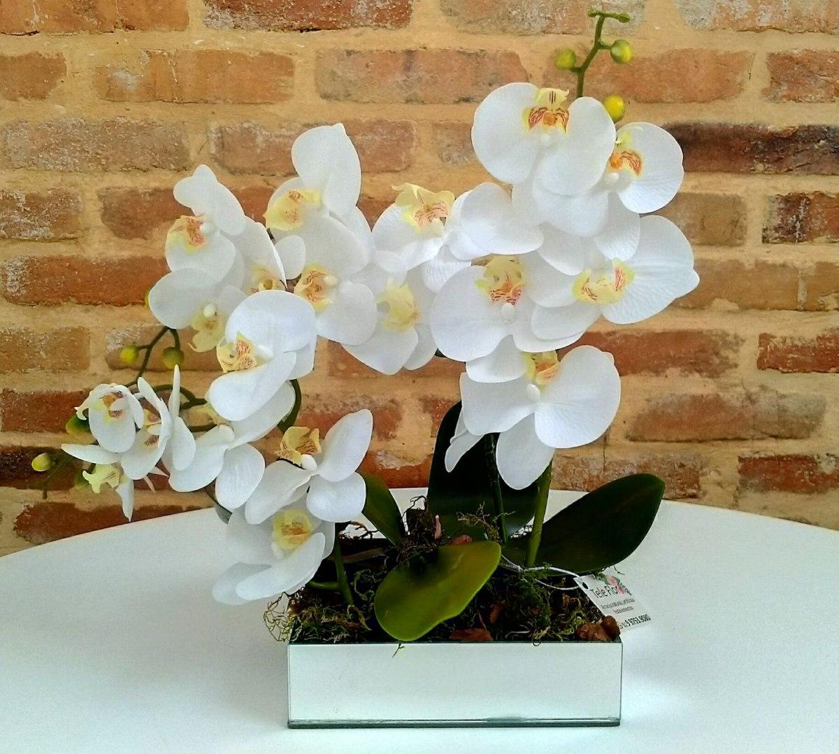 Orquídeas Arranjo De Flores Artificiais, Decoraç u00e3o De Fest R$ 145,00 em Mercado Livre -> Decoração Arranjos De Flores Artificiais