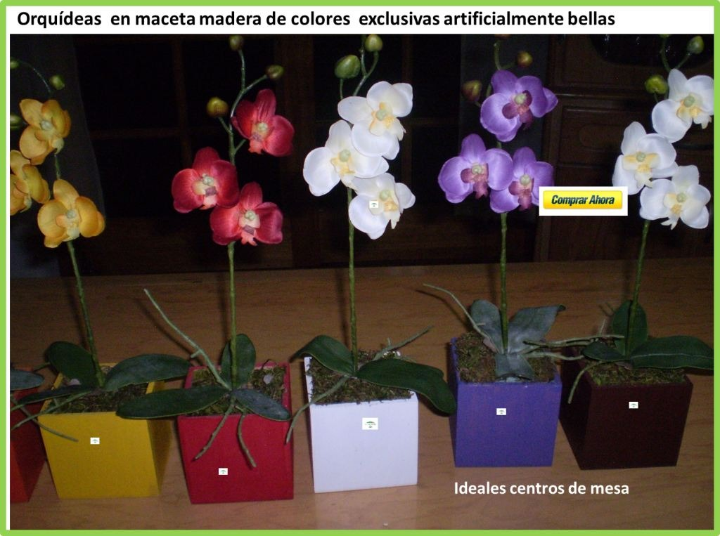 Orqu deas artificiales en mercado libre for Orquideas artificiales