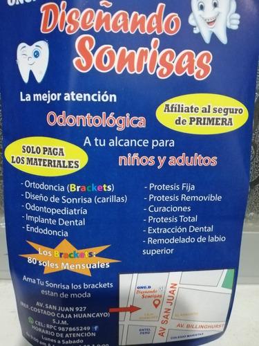 ortodoncia sin cuota inicial (solo paga los materiales) sjm
