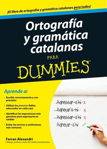 ortografía y gramática catalanas para dummies(libro catalán)