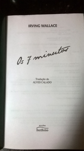 os 7 minutos - irving wallace - bestbolso