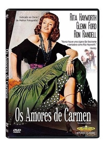 os amores de carmen - dvd - rita hayworth - glenn ford
