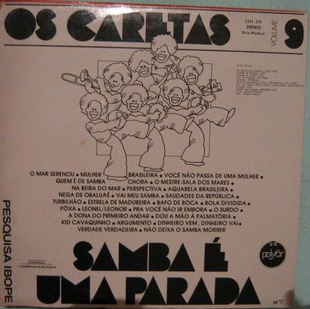 os caretas - samba é uma parada - vol - 9 - 1975