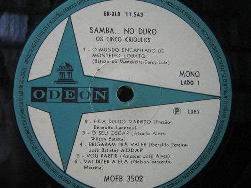 os cinco crioulos lp samba no duro 1967 mono 12047