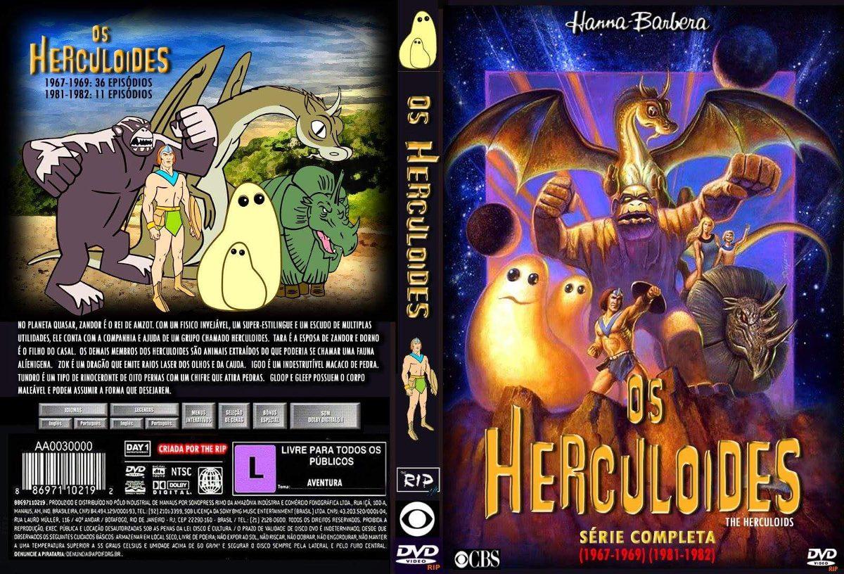 Os Herculoides 42 Desenhos Em 3 Dvds Frete 6 00 R 16 90 Em
