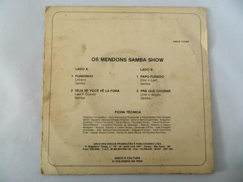 os mendons 1983 fundinho / papo furado - compacto ep 8
