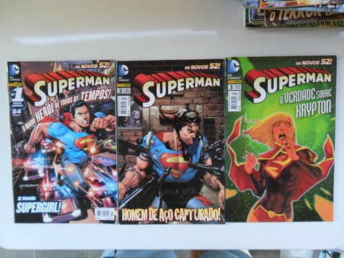 os novos 52! superman! vários números!